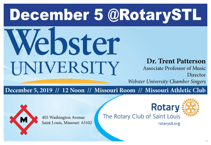 Webster University Chamber Singers @ St Louis Rotary on December 5, 2019