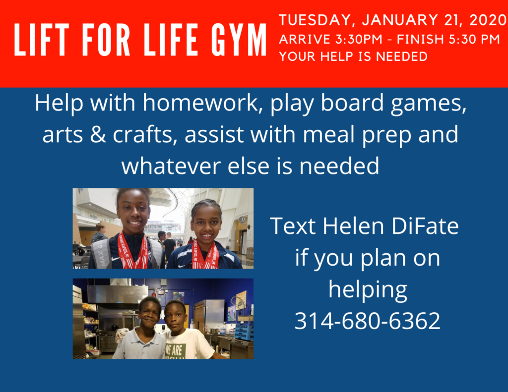 Lift for Life Gym Jan 21, 2020