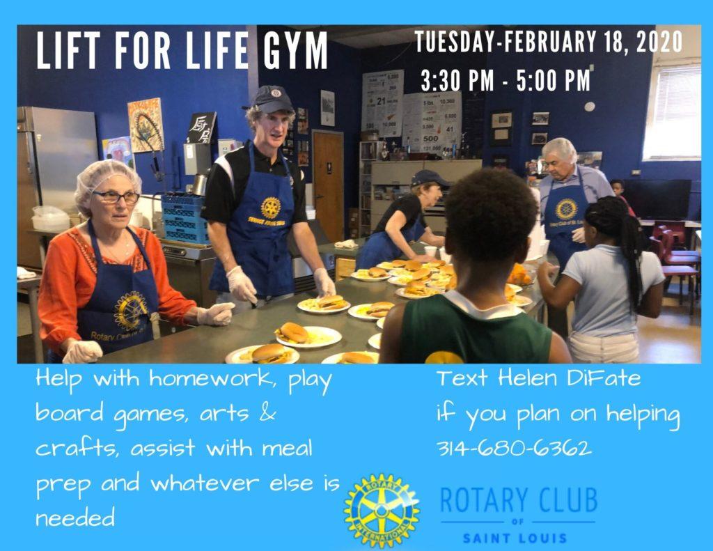 Lift for Life Gym Community Service Feb 2020