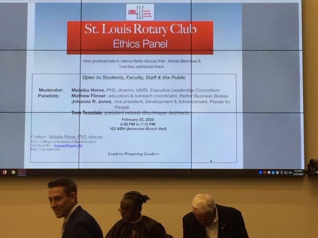 St Louis Rotary Club Ethics Panel