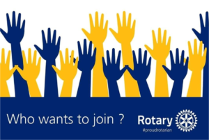 Who wants to join Rotary?