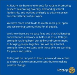 statement from Rotary June 2020