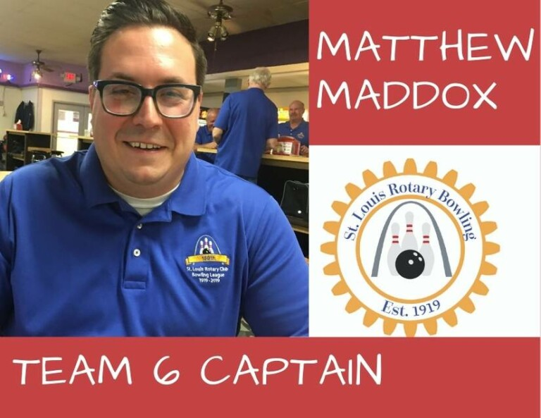 Captain Matthew Maddox - Team 6 - St Louis Rotary Bowling 2020-2021 Season - Week 12
