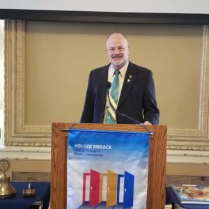 Dr. Joel Burken, Missouri S & T speaking at St. Louis Rotary, Engineers Day 2021