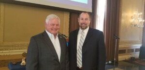 Bill Reininger, E.D., Tower Grove Park with President Jack Windish on 7/22/21