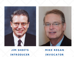 Jim Sheets, Introducer and Mike Regan, Invocator at St. Louis Rotary 10-21-21