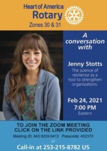 A conversation with Jenny Stotts 2-23-21