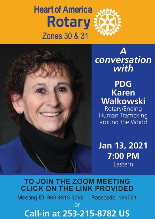 Karen-Walkowski-rotary/ending human trafficking 1-13-21- zoom