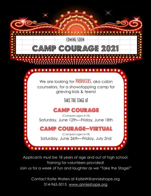 Volunteer Recruitment Flier Annie's Hope 2021