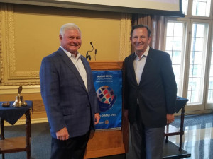 President Jack Windish & Chris Zimmerman at St. Louis Rotary 10-14-21