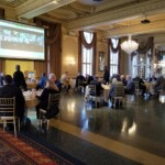 lunch crowd at stl rotary