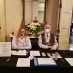wally and lindsay at stl rotary check-in table 1-7-21