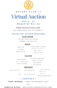 Auction Sponsors and all donating! thank you!