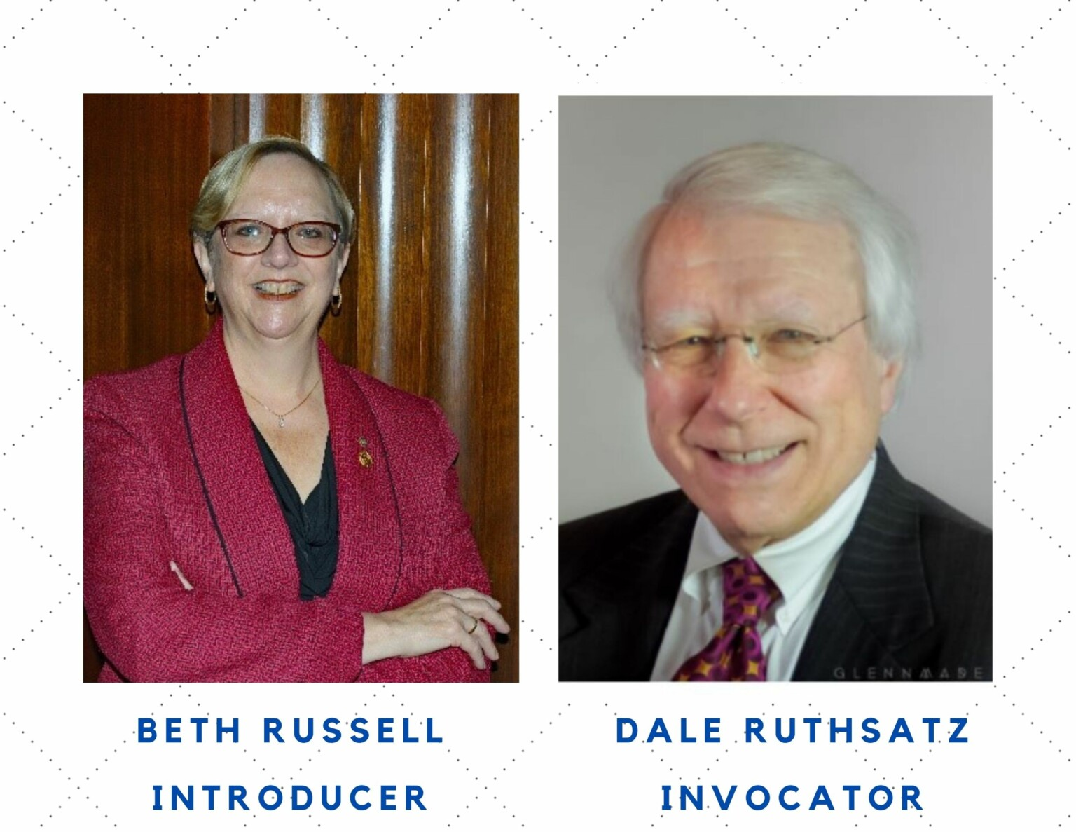 Beth Russell in introducing our speaker Vincent Flewellen at St. Louis Rotary on 9-16-21. Dale Ruthsatz is the invocator.