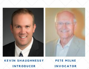 Kevin Shaughnessy, Introducer & Pete Milne, Invocator at St. Louis Rotary meeting 9-9-21