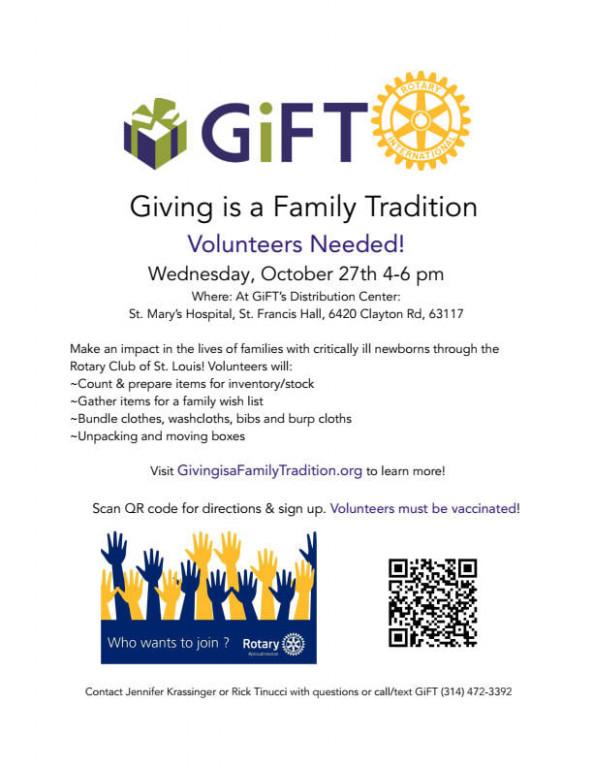 GIFT 10-27-21 Volunteer Opportunity